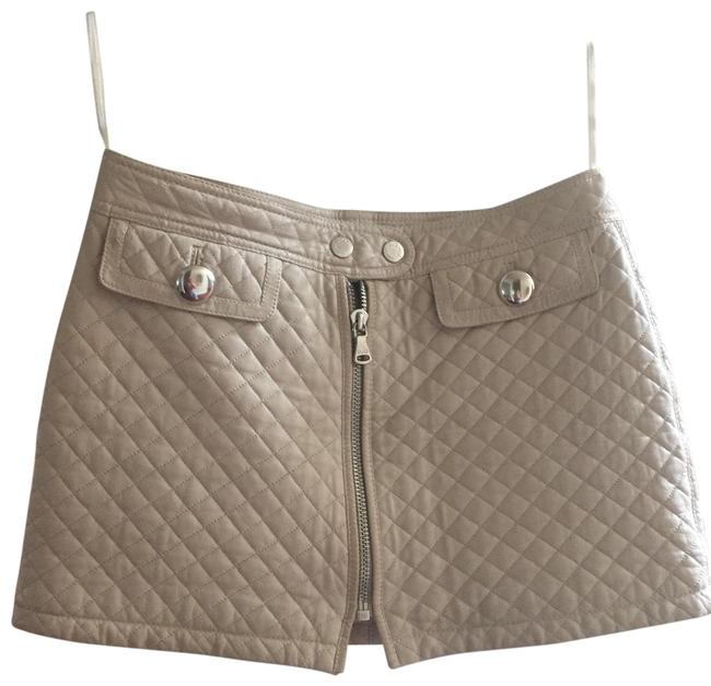 Item - Beige Quilted Leather 42 Skirt Size 4 (S, 27)