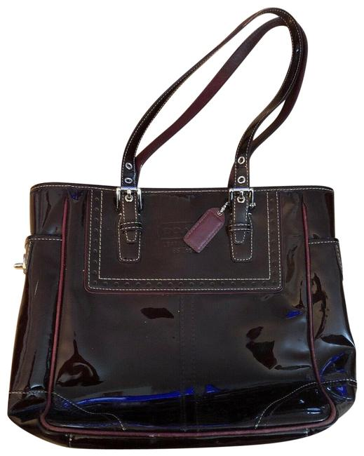 Item - East West Plum Patent Leather Tote