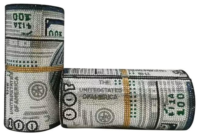 Item - Design Judith Leiber Inspired Handmade Stack Of Cash Money Roll Embellished Purse Swarovski Crystals Clutch
