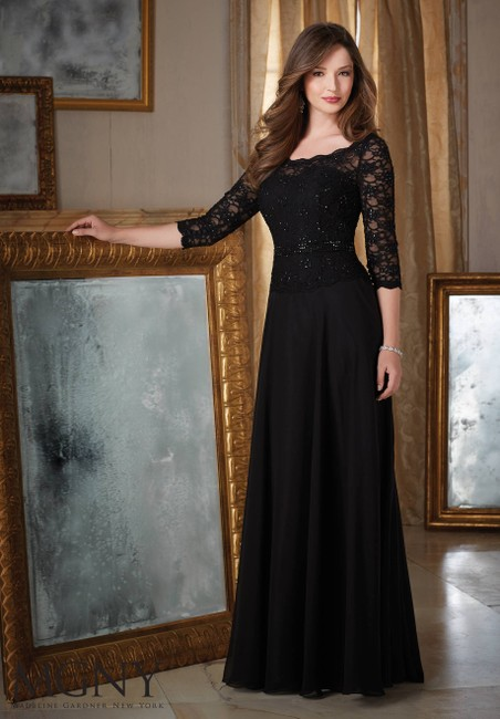 Item - Charcoal Chiffon and Lace 71413 Modest Bridesmaid/Mob Dress Size 20 (Plus 1x)