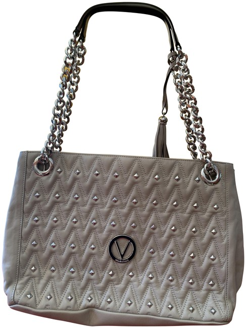 Item - Large Studded Beige Brown Leather Tote
