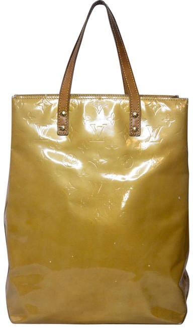 Item - Monogram Vernis Purse Mm Yellow Leather Tote