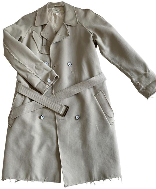 Item - Tan And Oxford Xsmall 0 Coat Size 0 (XS)