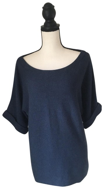 Eileen Fisher Blue Cotton / Cashmere / Size Small Sweater Eileen Fisher Blue Cotton / Cashmere / Size Small Sweater Image 1