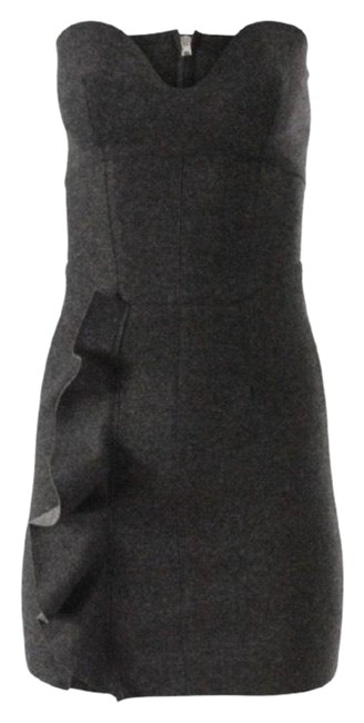 Item - Gray Frances Ruffle-trimmed Short Night Out Dress Size 10 (M)
