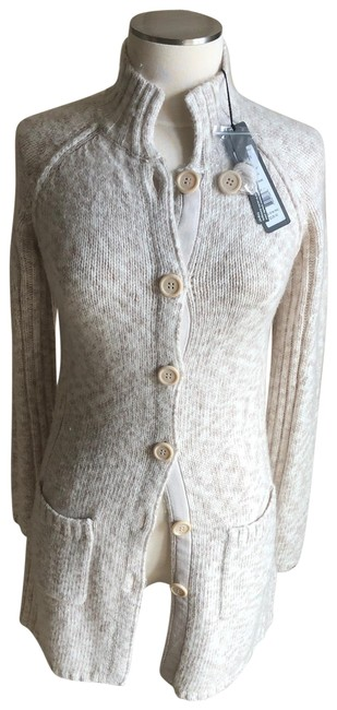 Item - Ag375 Latte Button Front Coat Tan/Oatmeal Sweater