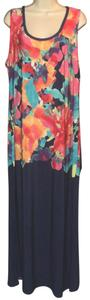 Navy & Floral Maxi Dress by Avenue