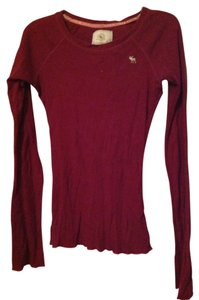 Abercrombie & Fitch Cotton Polyester T Shirt Maroon