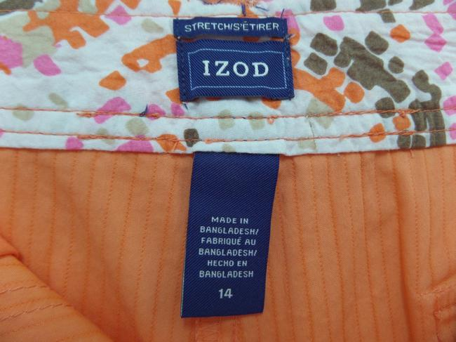 Izod Summer Bermuda Shorts Orange