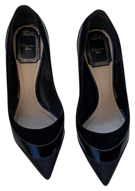 Item - Black Suede and Patent Pumps Size US 5 Regular (M, B)