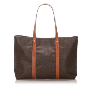 Celine 0cceto003 Vintage Leather Tote in Brown