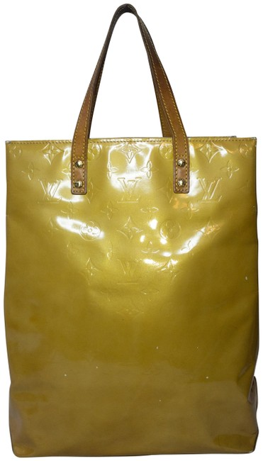 Item - Bag Monogram Vernis Purse Yellow/Tan/Mango Leather Tote