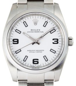 Rolex ROLEX Air King Random Engraved Mens Watch 114200 Stainless Steel White Dial