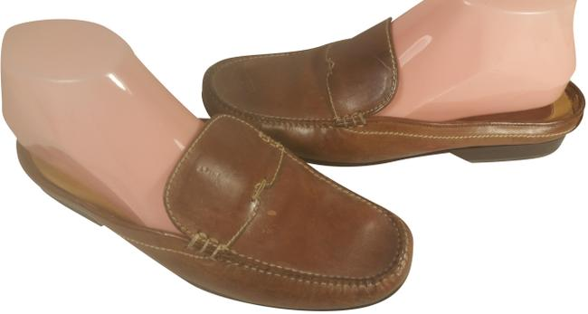 Item - Coffee Brown W/Creme Accents Leather Women's Dress Casual Walking 7c Mules/Slides Size US 7 Regular (M, B)