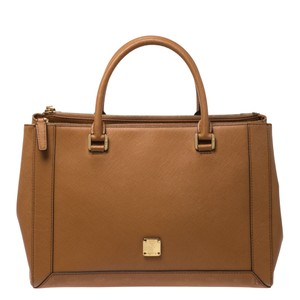MCM Leather Tote in Brown
