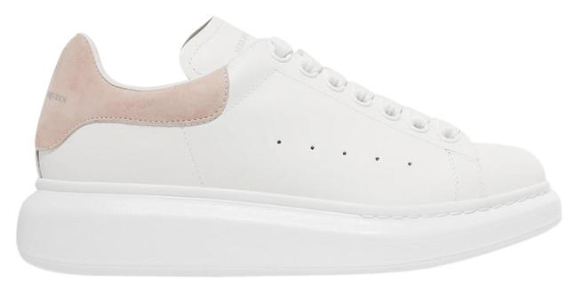 Item - White Pink Suede-trimmed Leather Exaggerated-sole Sneakers Size EU 38.5 (Approx. US 8.5) Regular (M, B)