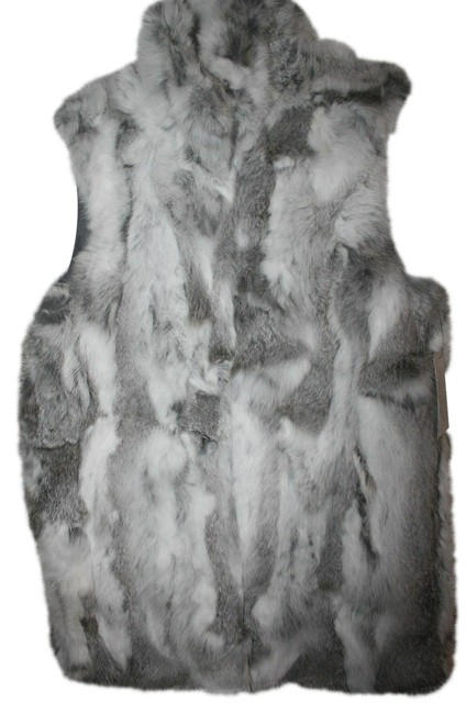 Item - Gray Natural Rabbit Color Vest Size 8 (M)