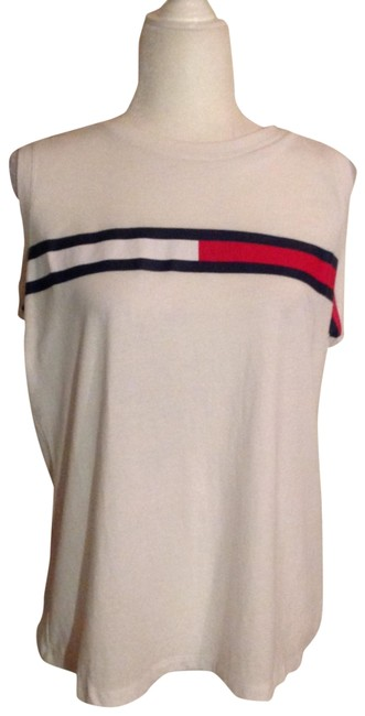 Item - White/Red/Black Tank Top/Cami Size 12 (L)