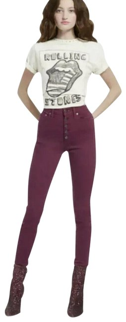 Item - Purple Ao.la By Currant Good High Rise Skinny Jeans Size 26 (2, XS)