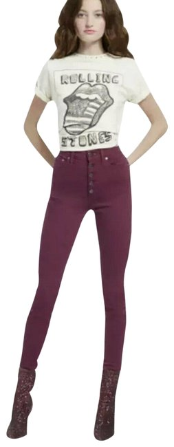 Item - Purple Ao.la By Currant Good High Rise Skinny Jeans Size 27 (4, S)