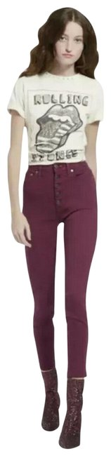 Item - Purple Ao.la By Currant Good High Rise Skinny Jeans Size 28 (4, S)