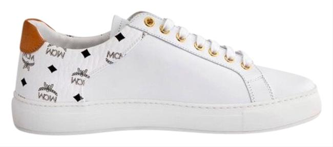 MCM White Ladies M Logo Combi Sneakers Size US 11 Regular (M, B) MCM White Ladies M Logo Combi Sneakers Size US 11 Regular (M, B) Image 1