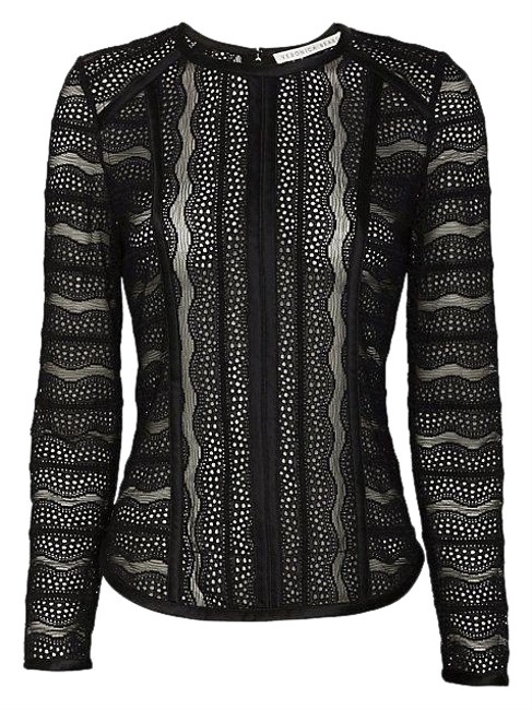 Preload https://img-static.tradesy.com/item/27098871/veronica-beard-lace-with-silk-trim-fitted-long-sleeve-black-top-0-1-650-650.jpg