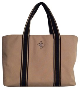 Ralph Lauren Tote in Beige With Black Handles
