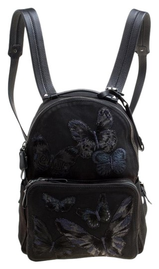 Preload https://img-static.tradesy.com/item/27099341/valentino-embroidered-butterfly-black-canvas-and-leather-backpack-0-1-540-540.jpg
