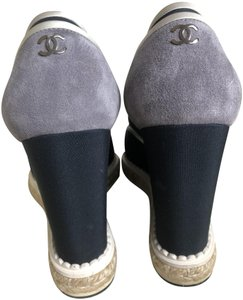 CHANEL Blue & Grey Boots