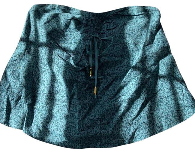 Item - Deep Teal and Black Tube Tank Top/Cami Size 6 (S)