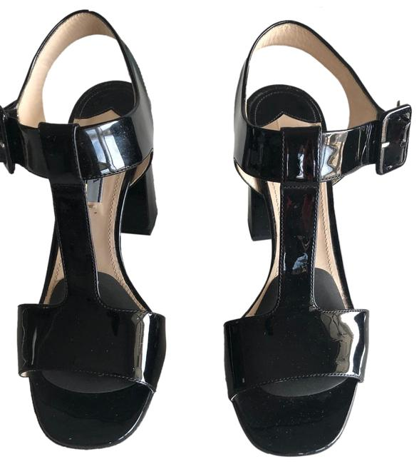 Prada Black T-strap Sandals Size US 8 Regular (M, B) Prada Black T-strap Sandals Size US 8 Regular (M, B) Image 1