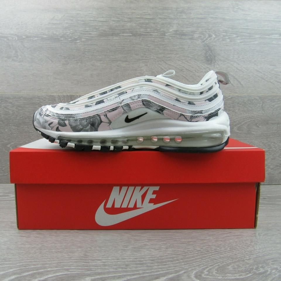 Nike White Air Max 97 Floral Print Running Sneakers Size Us 7