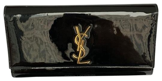 Preload https://img-static.tradesy.com/item/27100124/saint-laurent-black-with-gold-ysl-hardware-patent-leather-clutch-0-1-540-540.jpg