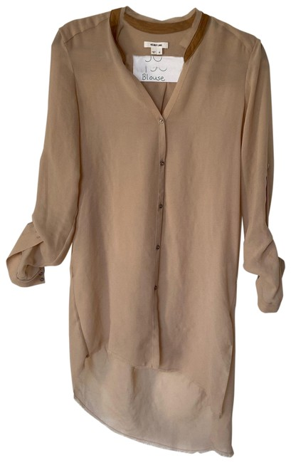 Item - Camel Sheer Button-down Top Size 4 (S)