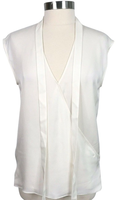 Item - Ivory Sleeveless Relaxed Wrap Vneck Tank Top/Cami Size 4 (S)
