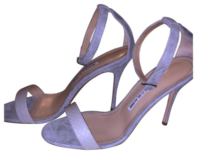 Item - Grey Suede Stiletto Sandals Formal Shoes Size EU 39 (Approx. US 9) Regular (M, B)