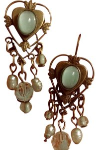 Kirks Folly Kirks Folly chandelier moon stone crystal earrings