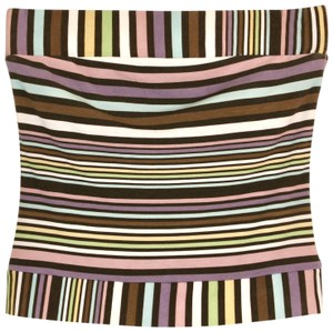 Envy Tube Striped Multi-Color Halter Top