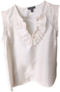 J.Crew Office Silk Suiting Shell Top cream/ivory