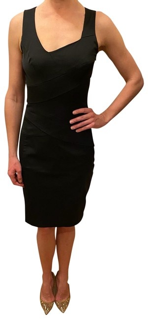 Sinéquanone Black Mid-length Work/Office Dress Size 4 (S) Sinéquanone Black Mid-length Work/Office Dress Size 4 (S) Image 1