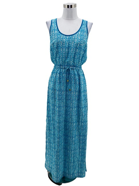 Item - Blue XS N1052 Designer 2 White Long Casual Maxi Dress Size 0 (XS)