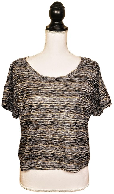 Item - Silver Gold Blouse Size 10 (M)