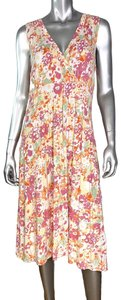 L.L.Bean short dress White Floral Summer on Tradesy
