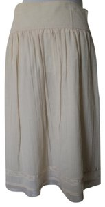 Banana Republic Wool Full Skirt Ivory