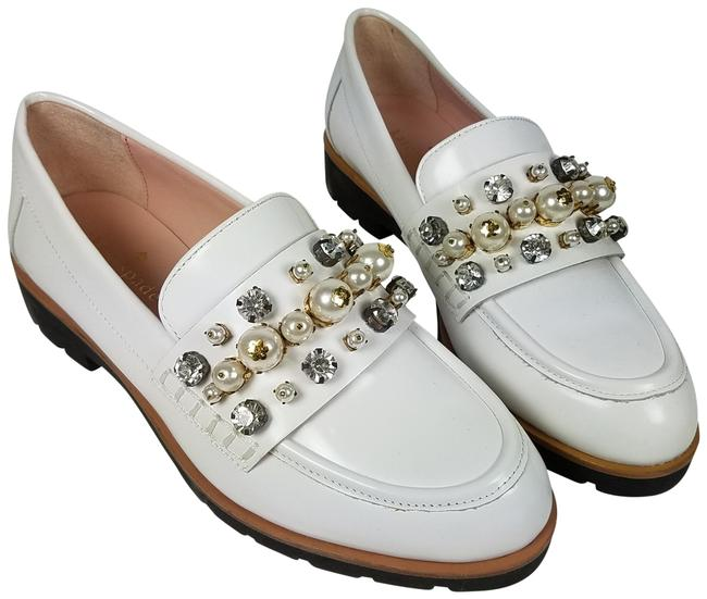 Item - White Karry Too Jeweled Loafers Platforms Size US 6.5 Regular (M, B)