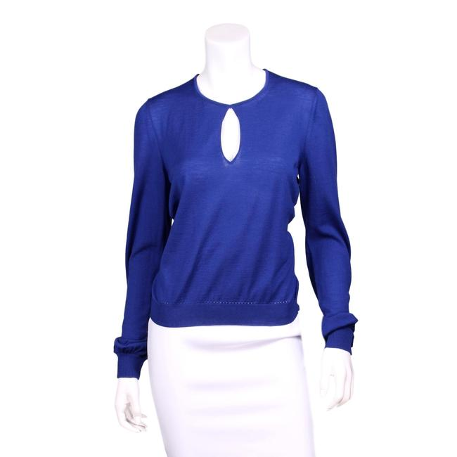 Item - 2010 Fall Collection Wool Keyhole Long Sleeve Blue Sweater