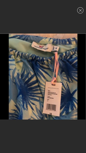 Vineyard Vines 2 Colors Of Blue Electric Palm One Shoulder In Aquamarine Mid-length Cocktail Dress Size 16 (XL, Plus 0x) Vineyard Vines 2 Colors Of Blue Electric Palm One Shoulder In Aquamarine Mid-length Cocktail Dress Size 16 (XL, Plus 0x) Image 6