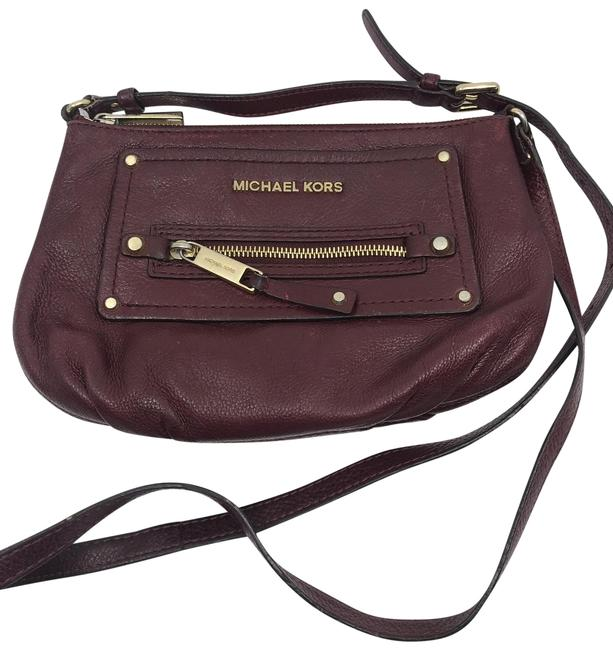 Item - Red Brown Leather Cross Body Bag