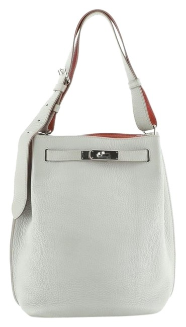 Item - So-Kelly Kelly Eclat So Clemence 22 Gris Perle (Gray) Leather Hobo Bag